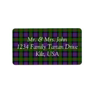 MacDonald Tartan Label