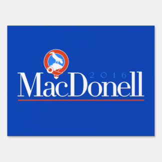 MacDonell 2016 Yard Sign (Blue Party)