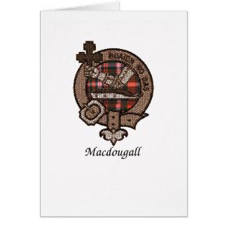 Macdougall Clan Crest Card