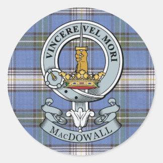 MacDowall Crest + Tartan Sticker Pack