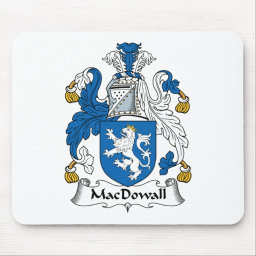 MacDowall Family Crest Mouse Mat