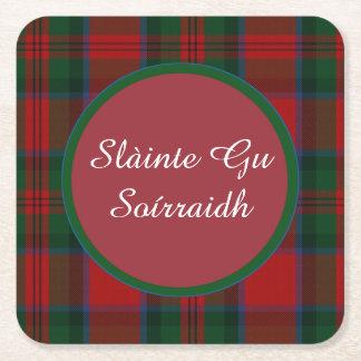 MacDuff Plaid Gaelic Toast Paper Coasters