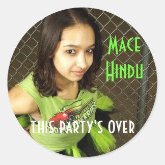 Mace Hindu Classic Round Sticker
