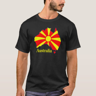 Macedonia Australia Map T-Shirt