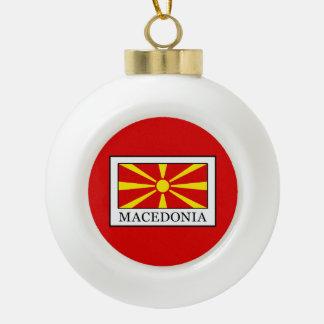 Macedonia Ceramic Ball Christmas Ornament