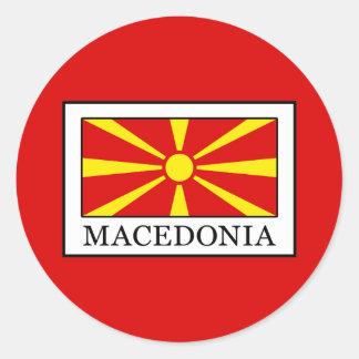 Macedonia Classic Round Sticker