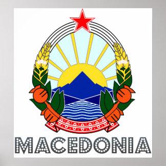 Macedonia Coat of Arms Poster