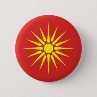macedonia country old flag 2 inch round button