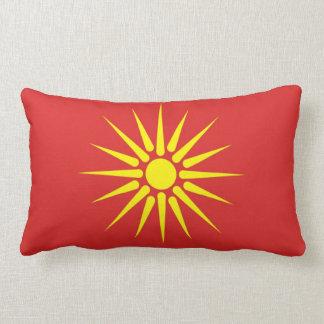 macedonia country old flag lumbar pillow