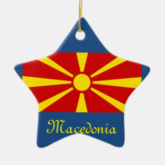 Macedonia Crest Star Christmas Ornament