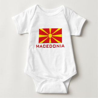 Macedonia Flag 1 Baby Bodysuit