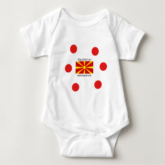 Macedonia Flag And Macedonian Language Design Baby Bodysuit