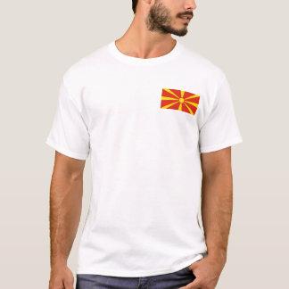Macedonia Flag and Map T-Shirt