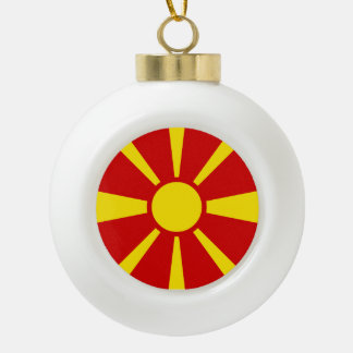 Macedonia Flag Ceramic Ball Christmas Ornament