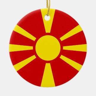 Macedonia Flag Ceramic Ornament