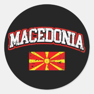 Macedonia Flag Classic Round Sticker
