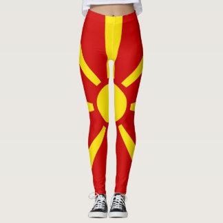 Macedonia Flag full Leggings