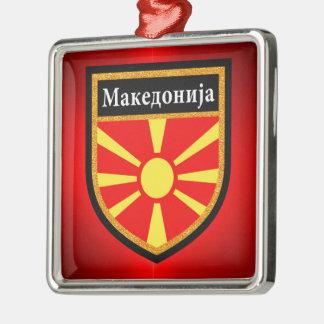 Macedonia Flag Metal Ornament