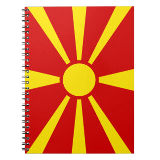 Macedonia Flag Notebook