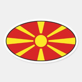 Macedonia Flag Oval Sticker