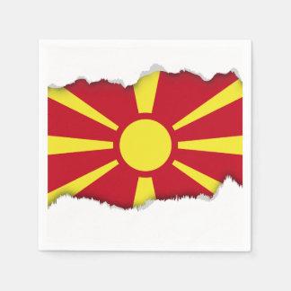 Macedonia Flag Paper Napkin
