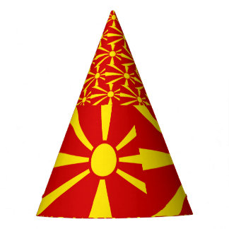 Macedonia Flag Party Hat