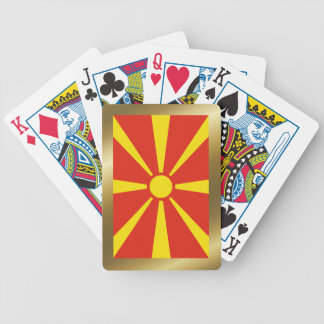 Macedonia Flag Playing Cards