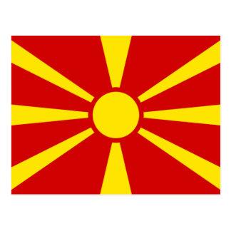 Macedonia Flag Postcard