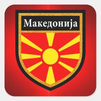 Macedonia Flag Square Sticker