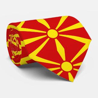 Macedonia flag tie