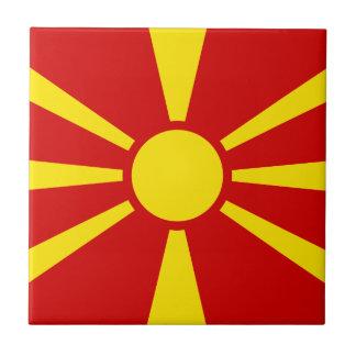 Macedonia Flag Tile