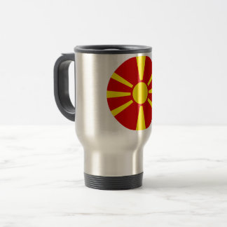 Macedonia Flag Travel Mug