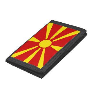 Macedonia Flag Trifold Wallets