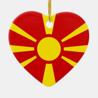 Macedonia, Luxembourg flag Ceramic Ornament