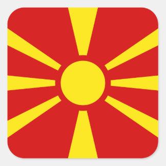 Macedonia – Macedonian Flag Square Sticker