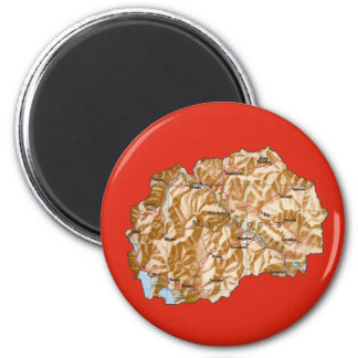 Macedonia Map Magnet