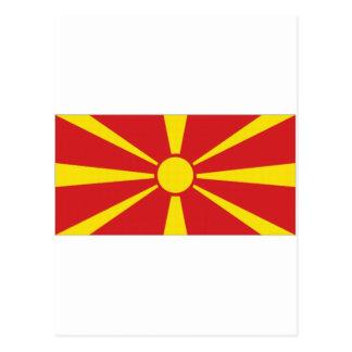 Macedonia National Flag Postcard