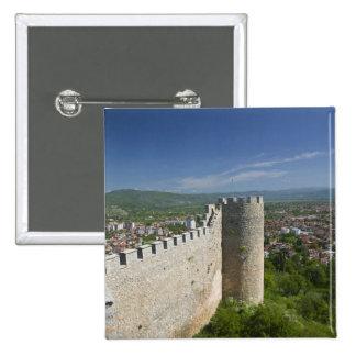 MACEDONIA, Ohrid. Car Samoil's Castle / 2 Inch Square Button