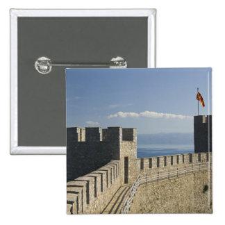 MACEDONIA, Ohrid. Car Samoil's Castle - Castle 2 2 Inch Square Button