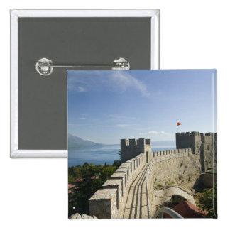 MACEDONIA, Ohrid. Car Samoil's Castle - Castle 2 Inch Square Button