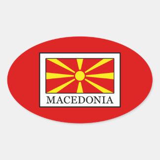 Macedonia Oval Sticker