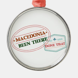 MACEDONIA Silver-Colored ROUND ORNAMENT