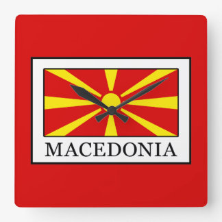 Macedonia Square Wall Clock