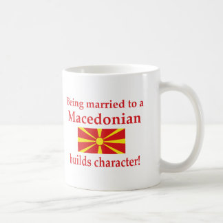 Macedonian Builds Character Coffee Mug