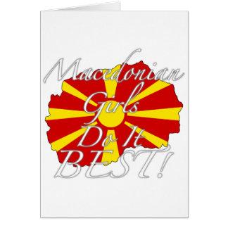 Macedonian Girls Do It Best! Card