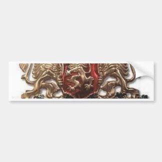 MACEDONIAN LION EMBLEM BUMPER STICKER