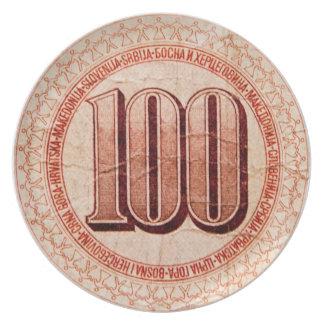 Macedonian money party plate