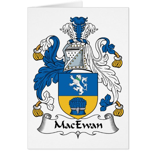 MacEwan Family Crest Card