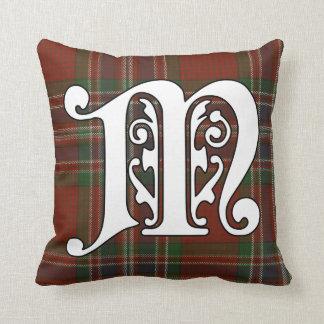 MacFarlane Clan Tartan Monogram Throw Pillow