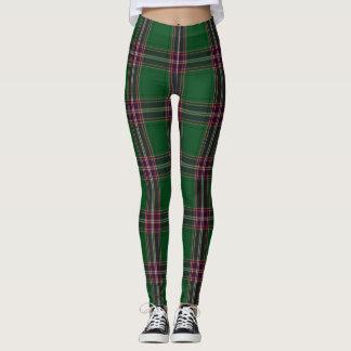 MacFarlane Tartan Plaid Leggings Green